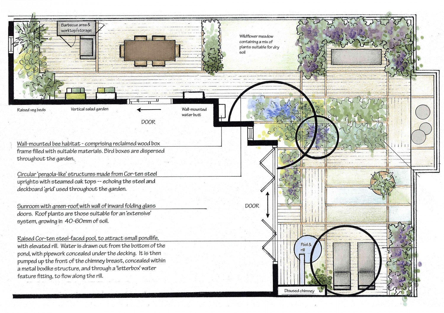 Eco friendly contemporary roof terrace sophie dixon for House design brief template for architect