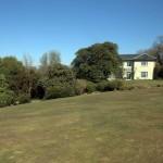 Sloping site at The Garden House, Devon
